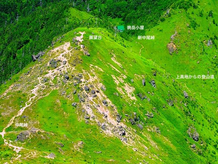 焼岳小屋と中尾峠展望台