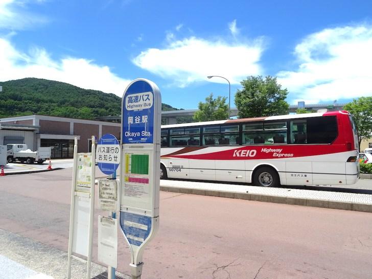 中央高速バスのバス停も駅前ロータリーに