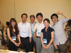 左から山梨大学産婦人科正田先生、 花岡先生、小林俊夫先生、外科吉田先生、 浅間総合病院内科高濱先生、 富士見高原病院木野田先生