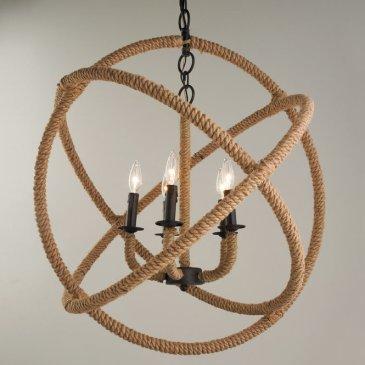 Rope Sphere Chandelier