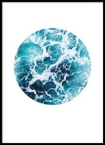 84998 Sea foam circle 50x70