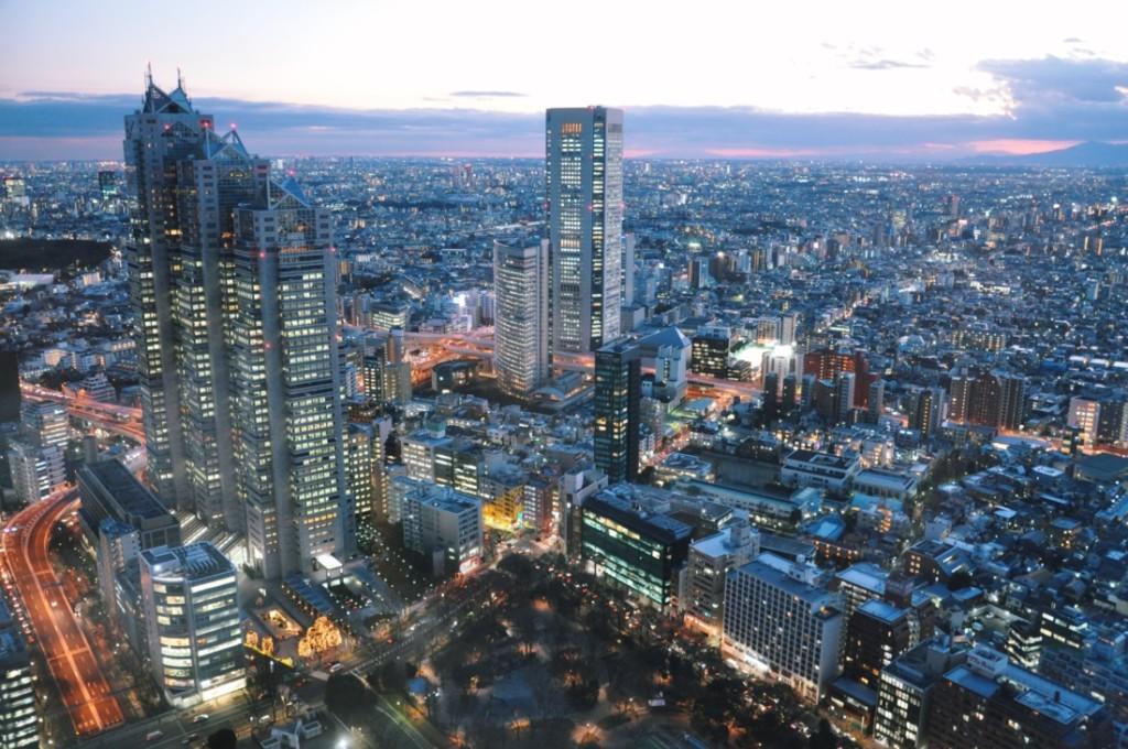 都庁展望台から見た夜景