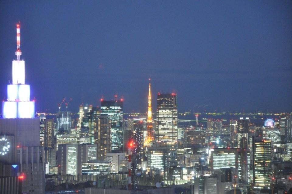 都庁展望台から見た東京タワー