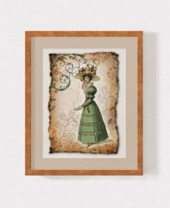 Regency Fashion Collage 5 x 7 Print 1 MU