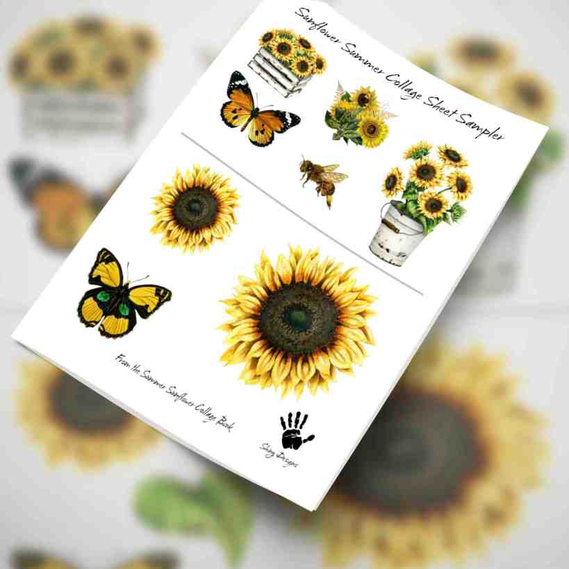 Summer Sunflowers – Beautiful Collage Images