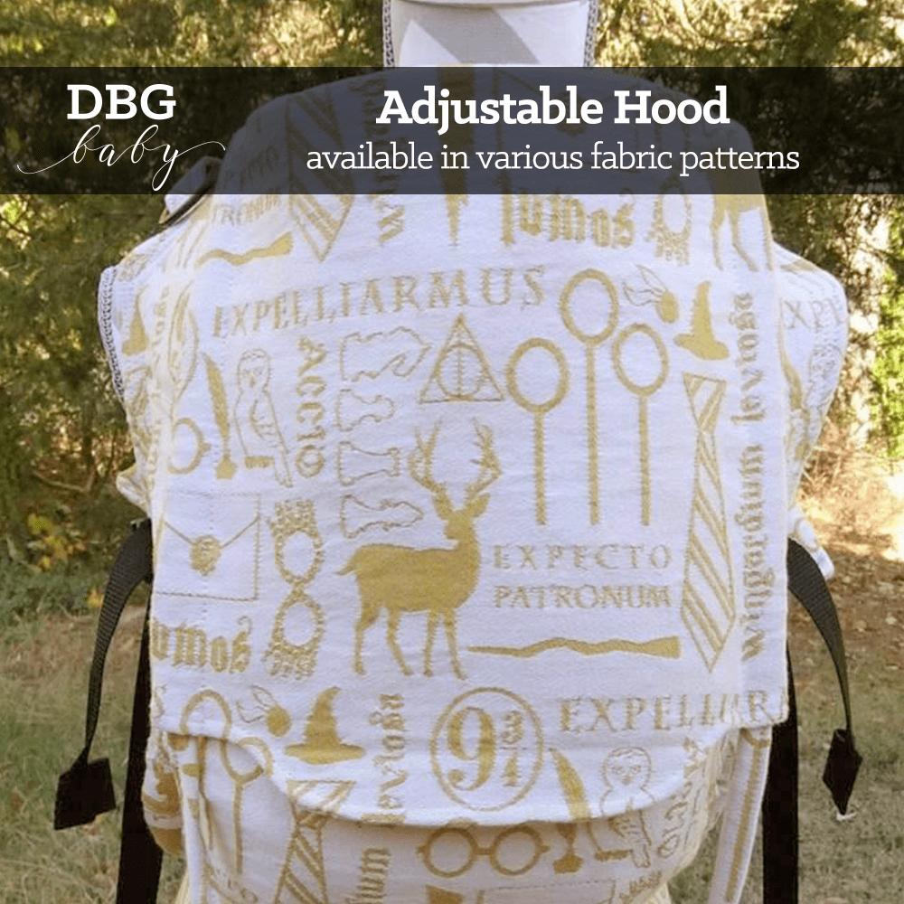 Adjustable Hood available in various fabric patterns