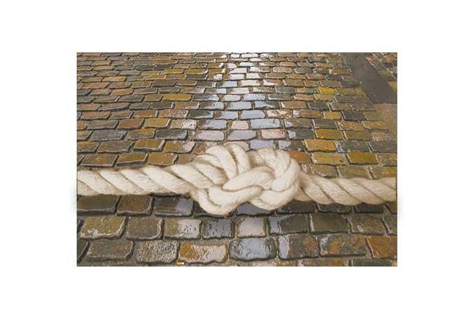 石畳と結び目