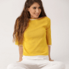 DressBerry Women Yellow Solid Top