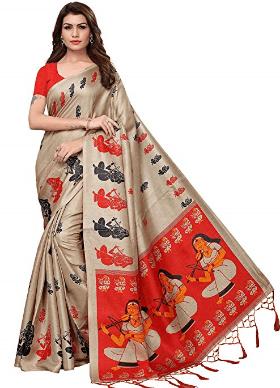 Women's Kalamkari Silk Saree