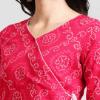 Azira Women Pink Printed A-Line Kurta