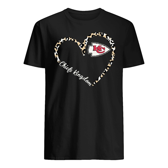 CHIEFS KINGDOM KC HEART LEOPARD SHIRT