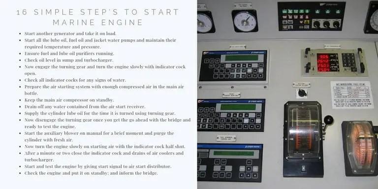 16 Simple Step's To Start Marine Diesel Engine