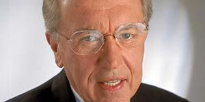 Sir David Frost, who died on Queen Elizabeth (Picture: Cunard)