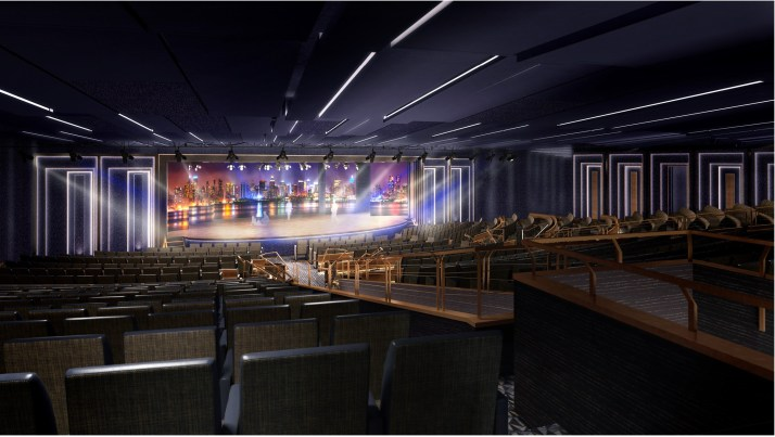 Curtain's up: The theatre with LED backdrop (Picture: P&O Cruises)