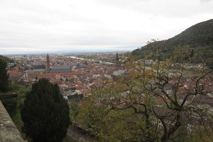 Heidel pleasure: The view from Heidelberg castle