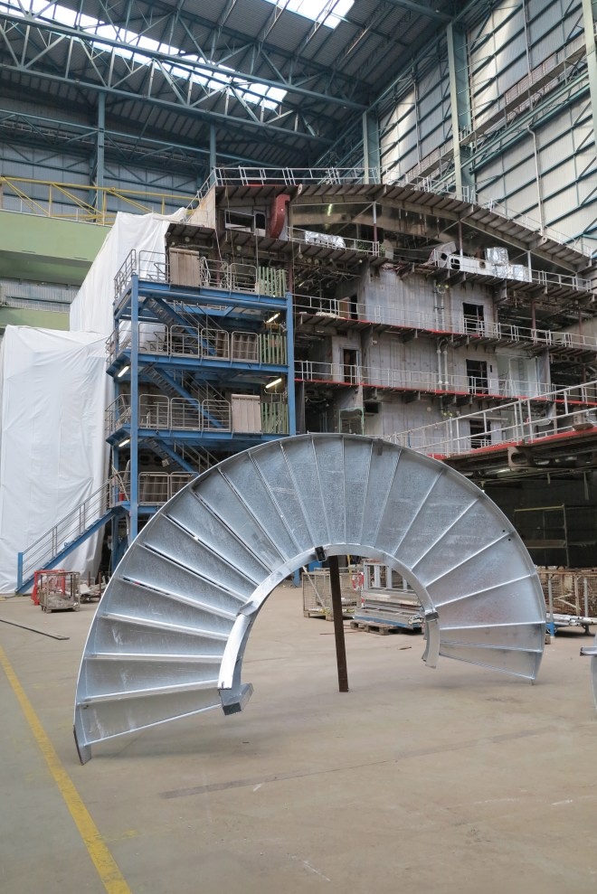 Stairway to the stars: This piece of metal will eventually be the stairs to the North Star pod