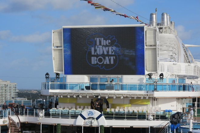 Classic: Crew from the TV series Love Boat will name the ship this afternoon
