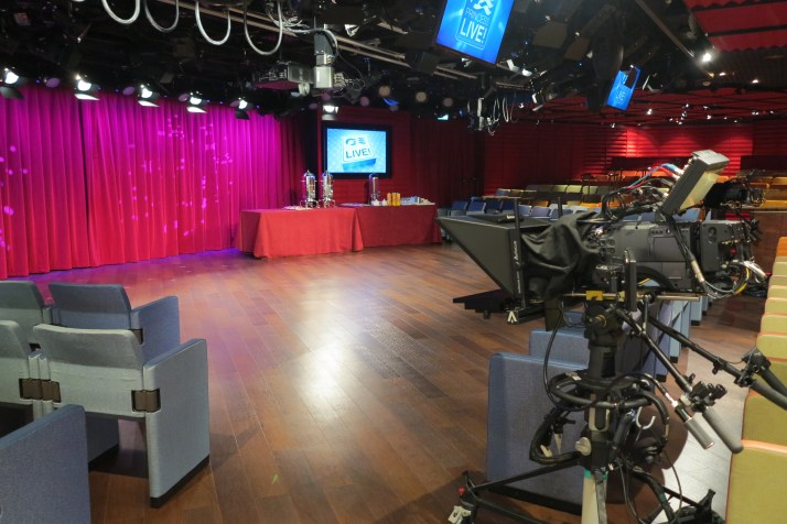 Take your cue: The Princess Live! TV studios