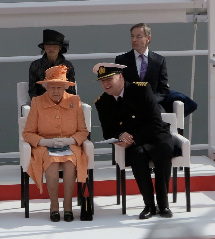 This is your captain speaking: Paul Brown chats to the Queen