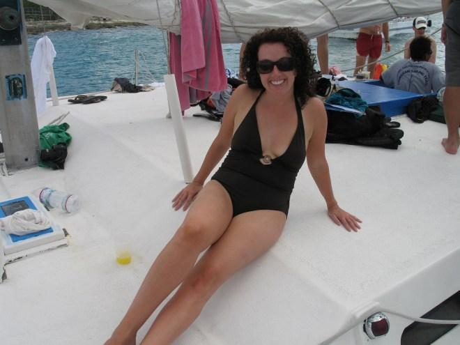 Cat on catamaran 2