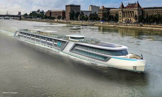 Sleek: An artist's impression of the new vessel (Picture: Crystal Cruises)