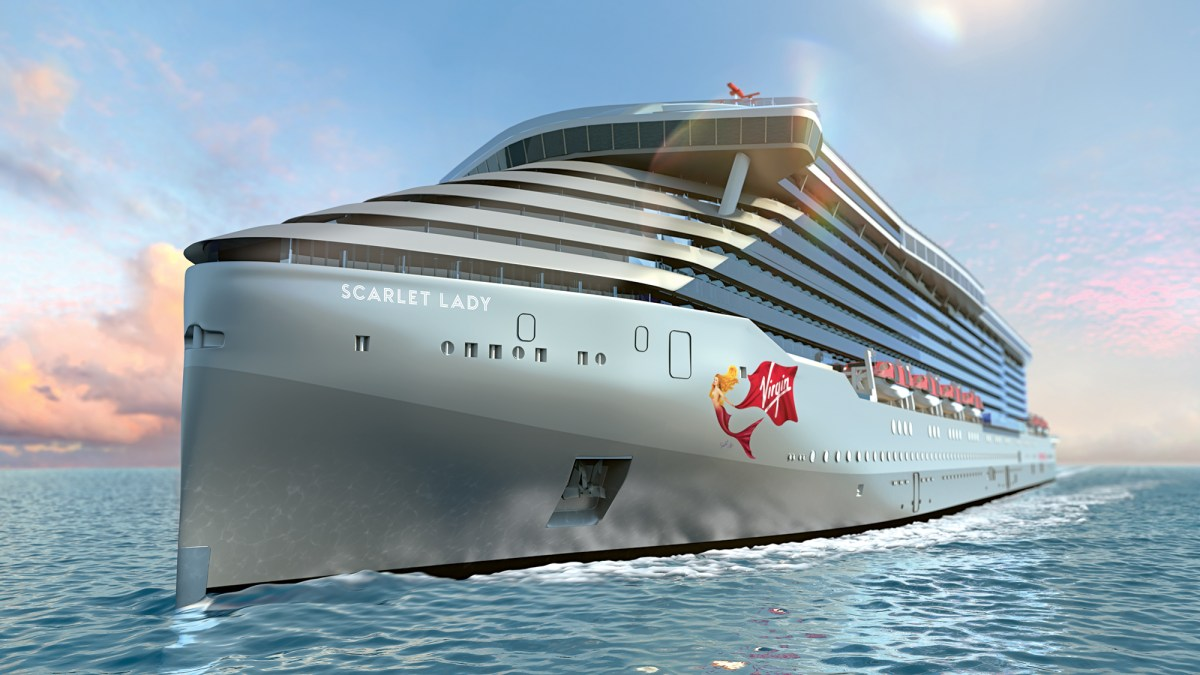 Sir Richard Branson wants to show off his new Virgin Voyages ship Scarlet Lady in Southampton