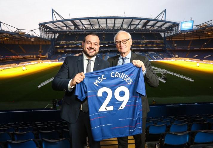 Antonio Paradiso (MD MSC Cruises UK & Ireland) and Bruce Buck (Chairman Chelsea FC)