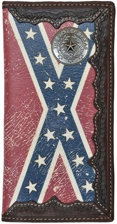 Custom Texas Seal Long Wallet With Distressed Rebel