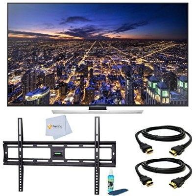 Samsung UN65HU8550 65-Inch 4K Ultra HD 120Hz 3D Smart LED TV + Tilt Wall  Mount + 2 HDMI Cables + TV Cleaner Set – For Sale