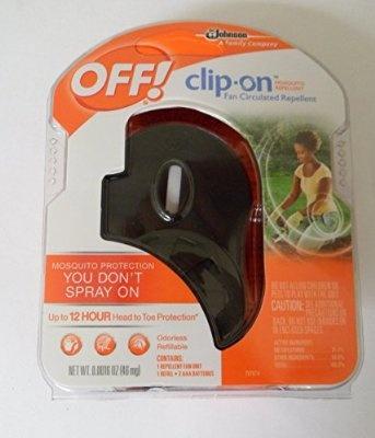 Off Clip on Mosquito Repellent Fan - Black