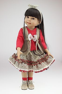 Lifelike beautiful 18inch full vinyl doll fashionable play doll for joints