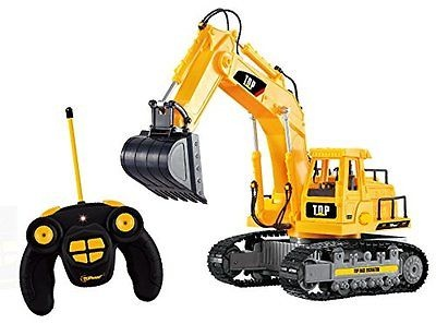 Battery Powered RC Remote Control Full Functional Excavator Construction Tractor