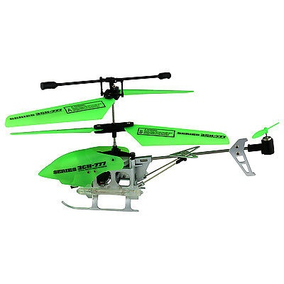 (GREEN) Glow in the Dark Series Gyro 3 5 CH 777 Remote Control Helicopter  RC – For Sale