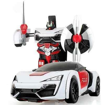 NEW RC Radio Remote Control Transformer Car Deform Robot 2.4G Music Lykan Racing