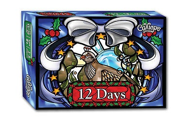 12 Days Family Christmas Gift Card Game New Calliope Edition Seen on TableTop