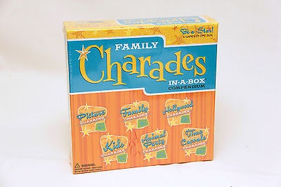 Family CHARADES 6 Games in a BOX Outset Media NEW in Sealed Box!