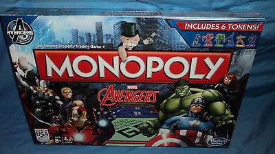 Monopoly Marvel Avengers Edition Hasbro Family Board Game S.H.I.E.L.D. New