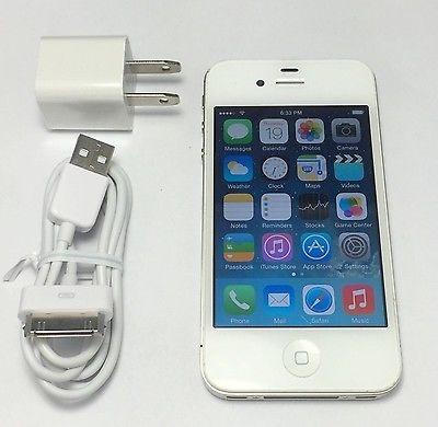 Apple iPhone 4 8GB White Smartphone Straight Talk Compatible on Verizon Towers