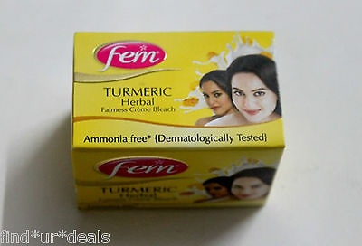 8 GM Fem TURMERIC HERBAL Bleach Lightening Fairness face Mask Cream Whitening G