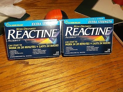 Reactine Allergy Extra Strength 4 boxes of 20 Tablets Non