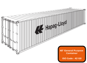 Image for 40' container