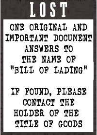 Image for lost bill
