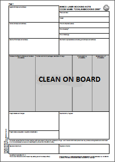 cleanbill - Implications of issuing a Clean on Board bill of lading