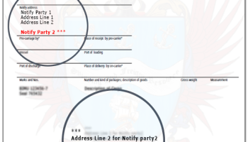 Role of a notify party in a shipment