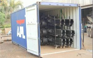 machinery in container - Cargo types and packing method in containers
