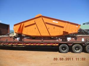 mining screen on a flatrack container1 - Cargo types and packing method in containers
