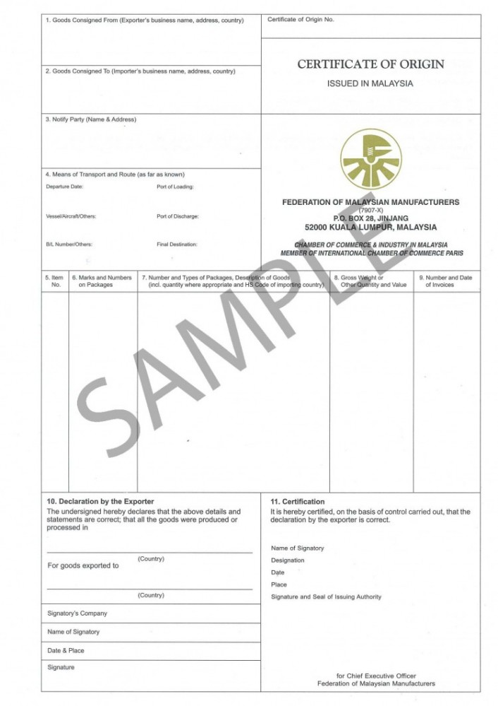 What is a certificate of origin shipping and freight resource certificate of origin yadclub Image collections