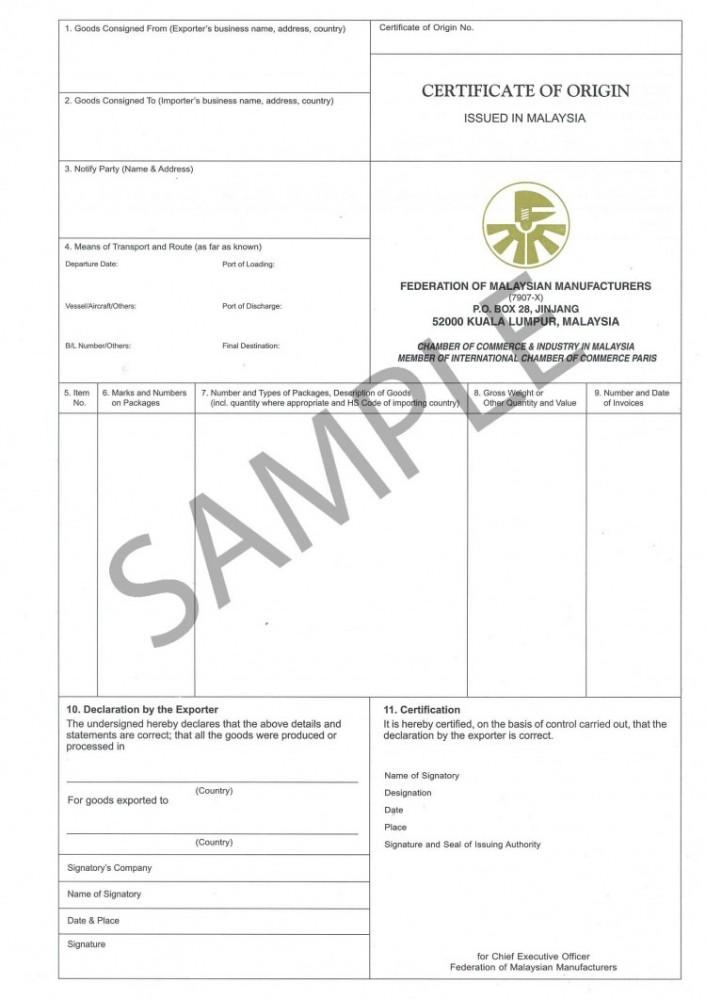 Superior Certificate Of Origin  Country Of Origin Certificate Sample