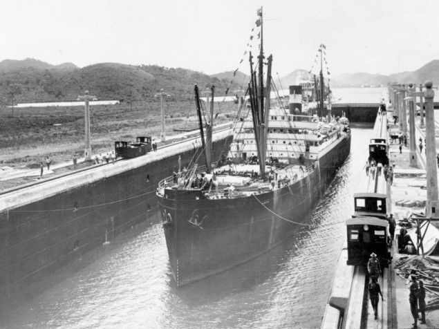 SS Ancon - first ship to transit Panama Canal