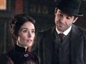 Flynn gazes at Lucy in Timeless